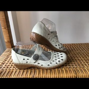 Rieker Summer Leather Mary Jane's